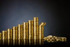 Dinero del oro Foto de archivo libre de regalías