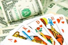Dinero del póker Imagen de archivo libre de regalías