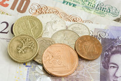 Dinero del sterling británico Imagenes de archivo