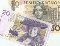 Dinero del sueco del fragmento Fotos de archivo libres de regalías