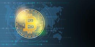 Dinero digital de Bitcoin, sistema del cryptocurrency Vector ilustración del vector