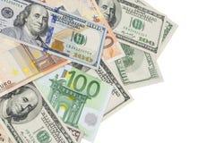 Dinero dispersado aleatoriamente Foto de archivo