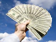 Dinero a disposición foto de archivo libre de regalías