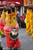 Dinero divertido en el Papá Noel Parade-2010 Imágenes de archivo libres de regalías