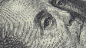 dinero dolar de la cuenta 100 almacen de metraje de vídeo