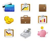Dinero e icono de las finanzas Imagen de archivo libre de regalías