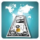 Dinero electrónico Fotografía de archivo libre de regalías