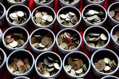 Dinero en bandeja Fotografía de archivo