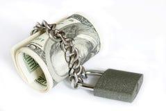 Dinero en bloqueo Imagenes de archivo