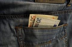 Dinero en bolsillo Imagen de archivo