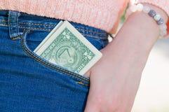 Dinero en bolsillo Foto de archivo