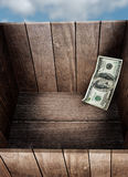 Dinero en caja Fotografía de archivo