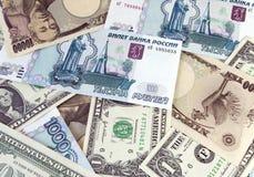 Dinero en circulación. Foto de archivo libre de regalías