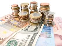 Dinero en circulación Fotografía de archivo libre de regalías