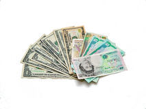 Dinero en circulación Foto de archivo libre de regalías