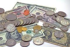 Dinero en circulación americano imagenes de archivo