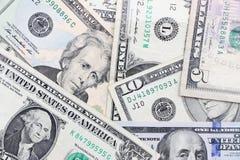 Dinero en circulación americano Imagen de archivo