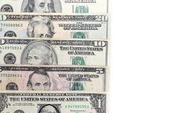 Dinero en circulación americano Fotografía de archivo libre de regalías