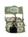 Dinero en circulación americano de examen Foto de archivo libre de regalías