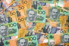 Dinero en circulación australiano Fotos de archivo libres de regalías