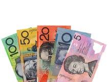 Dinero en circulación australiano Fotografía de archivo