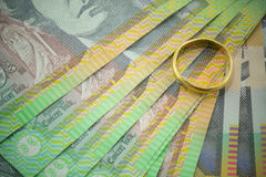 Dinero en circulación australiano Imagen de archivo libre de regalías