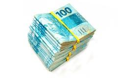 Dinero en circulación brasileño Foto de archivo libre de regalías
