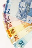 Dinero en circulación brasileño Fotos de archivo