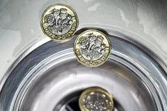 Dinero en circulación británico fotografía de archivo libre de regalías