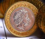 Dinero en circulación británico Imagen de archivo libre de regalías