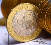 Dinero en circulación británico Fotos de archivo