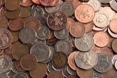 Dinero en circulación británico fotos de archivo libres de regalías