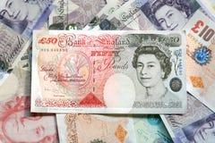 Dinero en circulación BRITÁNICO Imagen de archivo