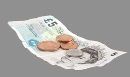Dinero en circulación británico Fotografía de archivo
