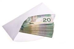 Dinero en circulación canadiense Imagenes de archivo