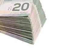 Dinero en circulación canadiense Fotos de archivo