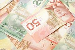 Dinero en circulación canadiense Imagen de archivo libre de regalías