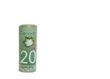 Dinero en circulación canadiense Foto de archivo