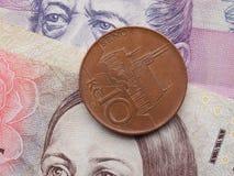Dinero en circulación checo Fotos de archivo