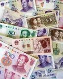 Dinero en circulación chino Fotografía de archivo