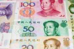 Dinero en circulación chino Fotos de archivo libres de regalías