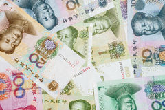 Dinero en circulación chino Imagen de archivo