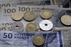 Dinero en circulación danés Foto de archivo libre de regalías