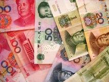 Dinero en circulación de China Fotografía de archivo