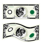 Dinero en circulación de cuenta de dólar Imagen de archivo libre de regalías