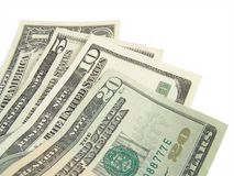 Dinero en circulación de Estados Unidos Imagen de archivo