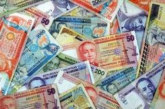 Dinero en circulación de Filipinas Foto de archivo
