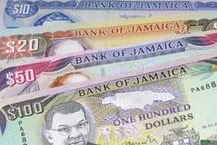Dinero en circulación de Jamaica Imagen de archivo libre de regalías
