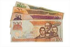 Dinero en circulación de la República Dominicana Fotos de archivo libres de regalías