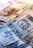Dinero en circulación de la rupia india Fotos de archivo